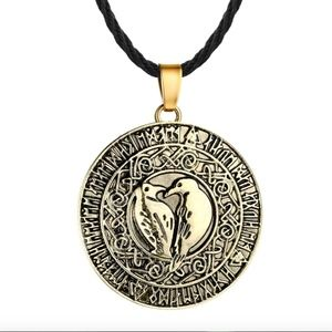 Viking Amulet Religious Raven Wiccan Necklace
